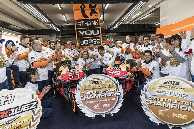 画像: 【モトGP2019 バレンシアGP】マルケスが優勝、チームはトリプルクラウンを達成