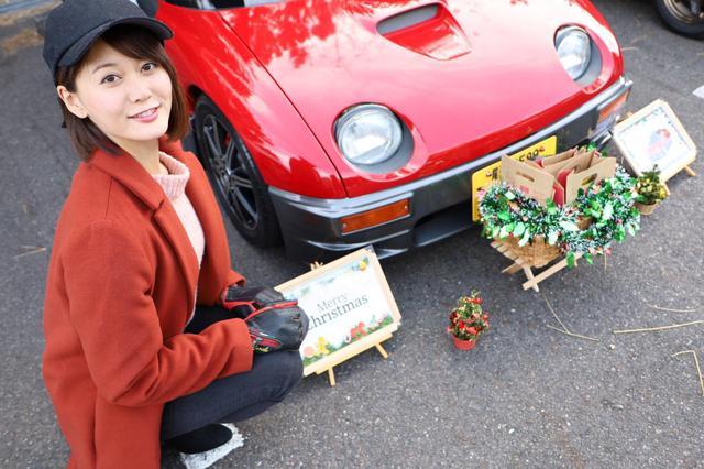 画像: メリクリ!お菓子をご自由にどうぞ!的なサンタカーでした♪