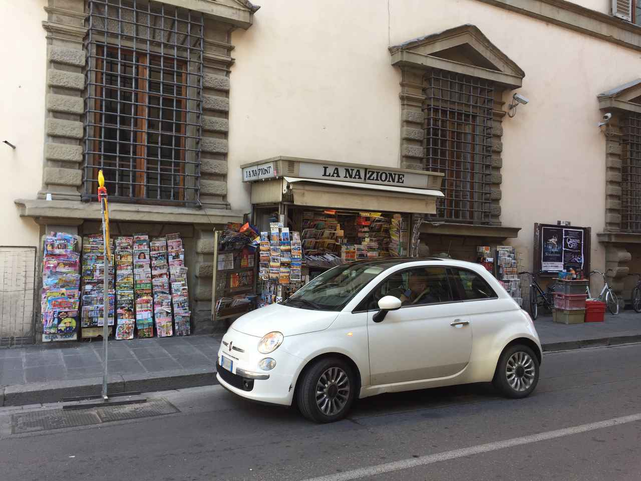 画像: フィレンツェにて。フィアット500。次期型の姿は如何に。