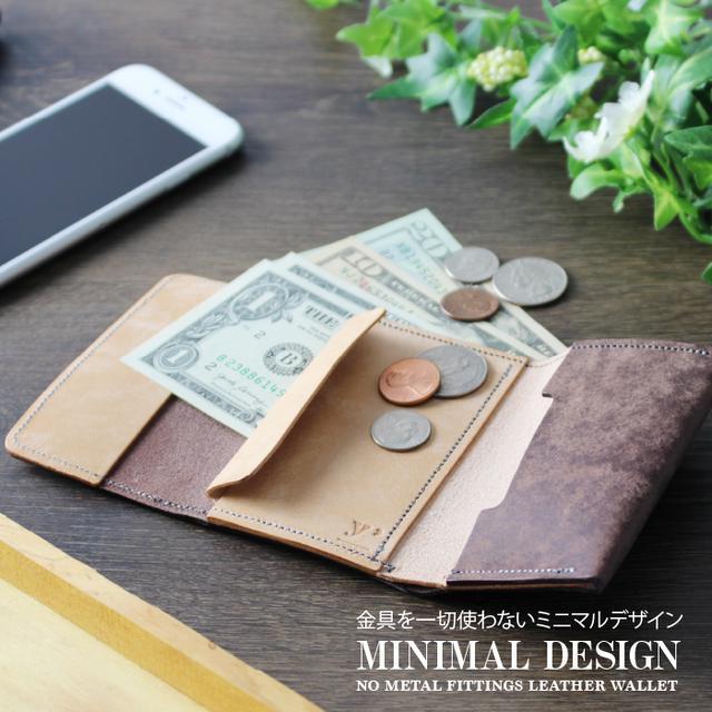 画像2: 【ついに販売開始!】イタリアの本革だけでつくった、「小さくて機能的なミニ財布」
