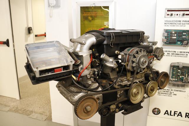 画像: 1980年代に研究していたエンジンの総合電子制御システム。