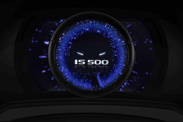 画像: メーターには IS 500 専用のアニメーションが表示される。