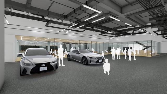 画像: 新施設イメージ(1階 ガレージ)