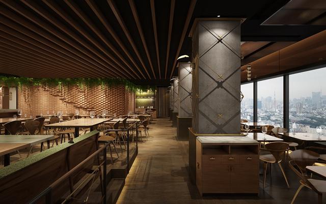 画像: ウッディなインテリアとグリーンを基調とした店内には東南アジアの雰囲気が漂う。最上階から一望できる東京の風景が、解放感のあるフロアを引き立てる COURTESY OF LONGRAIN