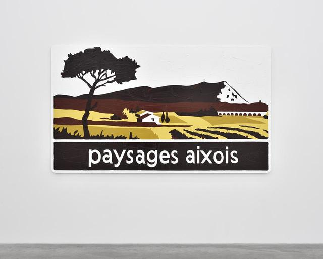 画像: 《PAYSAGES AIXOIS》(2014年) 道路標識にアクリル絵具 140 x 240 cm
