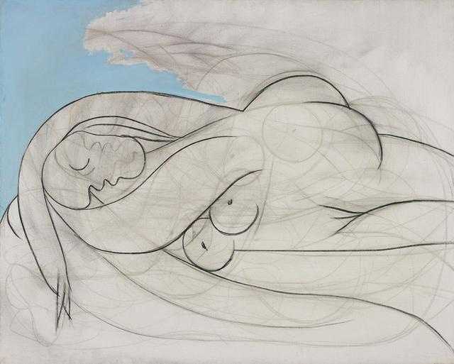 "画像: ロンドンで開かれる3月8日のイブニングセール、9日のデイセールで出品される作品 PABLO PICASSO 《Sleeping Nude》1932年 Oil and charcoal on canvas Dated ""13 mars XXXII"" on the stretcher, 130.2 x 161.9 cm Estimate: £12,000,000-18,000,000 PHOTOGRAPHS: COURTESY OF PHILLIPS"