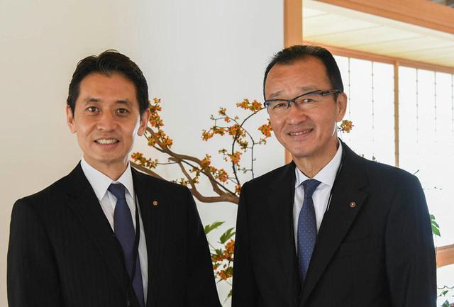 画像: 木乃婦の高橋拓児さん(写真左)と京都南ロータリークラブ会長の千振和雄さん(写真右)。「このイベントに協力できたことは光栄です。京都の持つ魅力を、広く知っていただく一助になれば」と話す