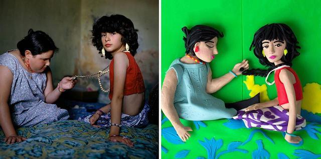 画像: (写真左)アレッサンドラ・サンギネッティの『ザ・ネックレス』(ブエノス・アイレス、アルゼンチン / 1999年) © ALESSANDRA SANGUINETTI/MAGNUM PHOTOS (写真右)エレノア・マクネアによる作品 © ELEANOR MACNAIR