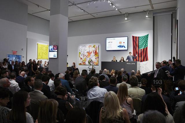 画像: 2017年、ニューヨークで開かれたフィリップスのオークション風景