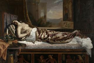 ゲルマン・フォン・ボーン 《クレオパトラの死》