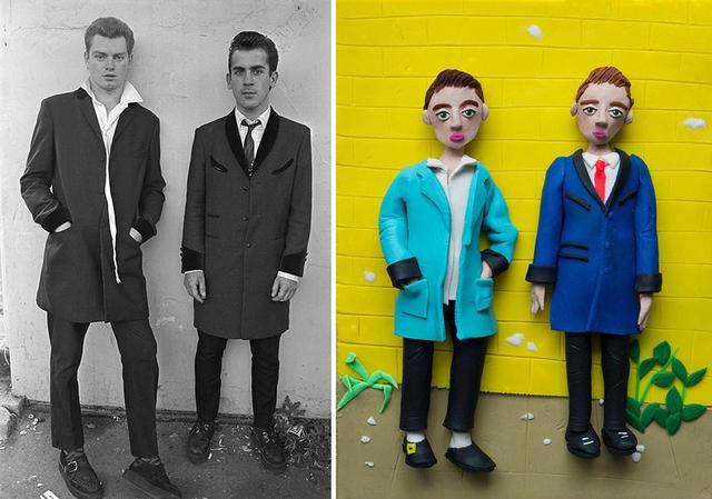 画像: (写真左)クリス・スティール=パーキンスの作品集『ザ・テッズ』から『サウスエンド・イングランド』(1977年) © CHRIS STEELE-PERKINS/MAGNUM PHOTOS (写真右)エレノア・マクネアによる作品 © ELEANOR MACNAIR