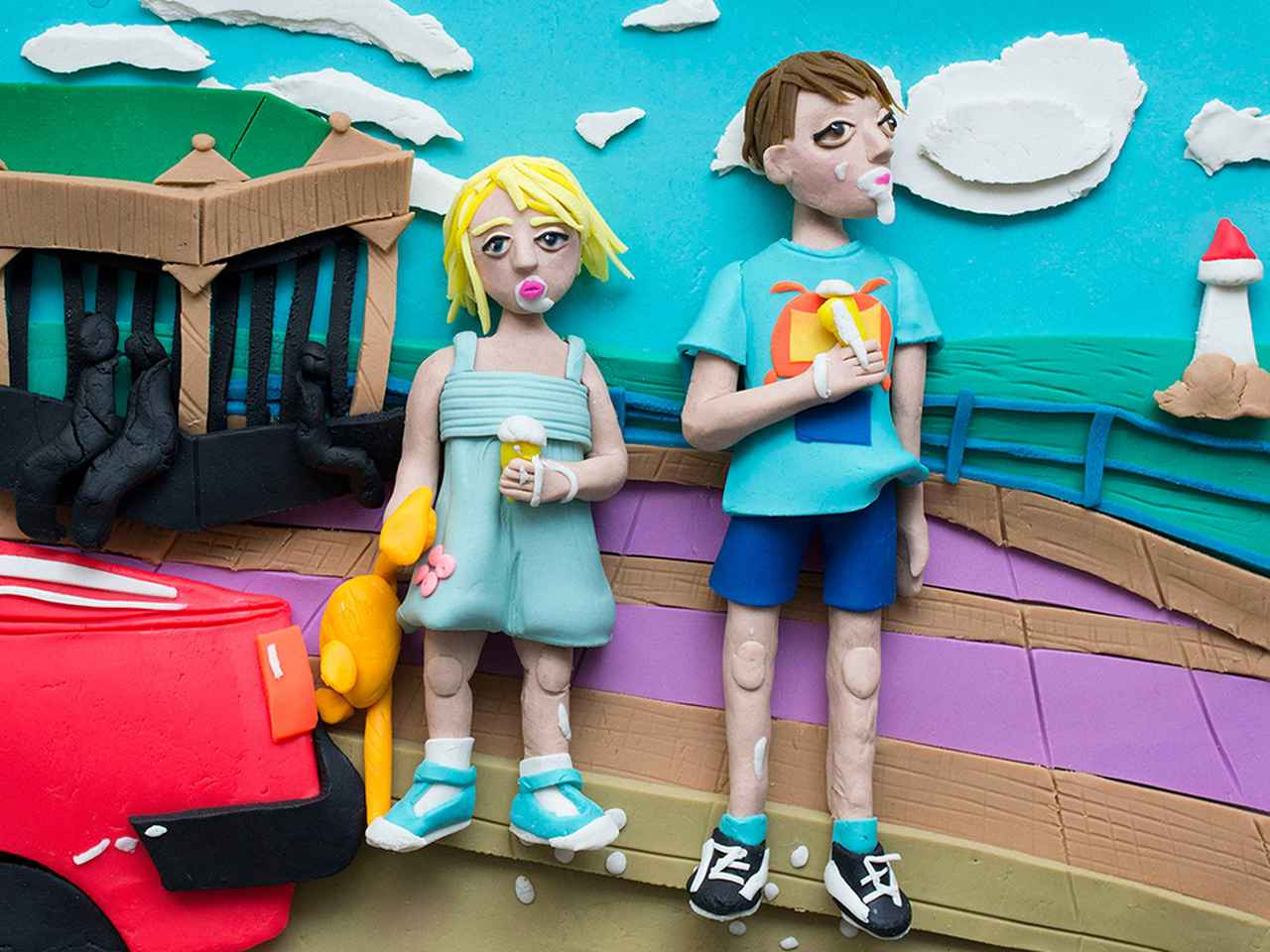 Images : 3番目の画像 - 「おもちゃの粘土で再解釈された 10枚の歴史的写真」のアルバム - T JAPAN:The New York Times Style Magazine 公式サイト