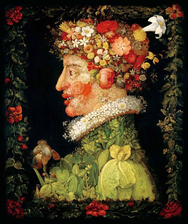 画像: ジュゼッペ・アルチンボルド 《春》1573年 PHOTOGRAPH:© RMN-GRAND PALAIS (MUSÈE DU LOUVRE) /JEAN-GILLES BERIZZI / DISTRIBUTED BY AMF-DNPARTCOM