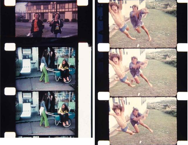 画像: (写真左)ダウンタウン (写真右)ハリウッド映画風の殴り合いを演じるピーター・ビアードとジョン・F・ケネディ・ジュニア