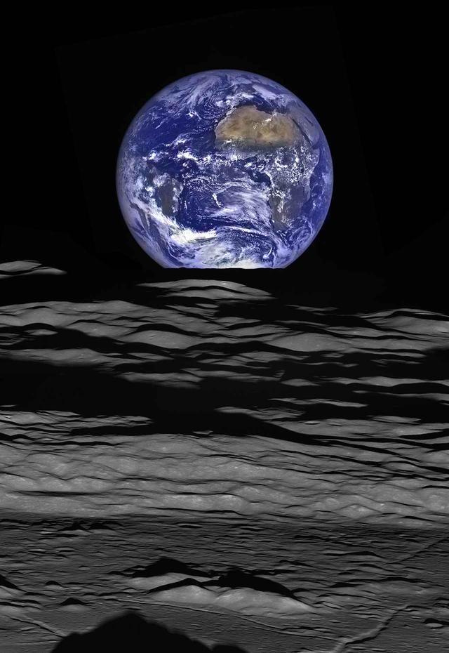 画像: 探査機ルナー・リコネッサンス・オービターが月を周回する軌道から見た地球 © NASA・GODDARD・ARIZONA STATE UNIVERSITY