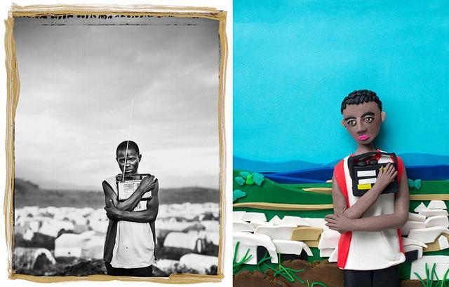 画像: (写真左)ジム・ゴールドバーグの『プライズド・ポセッション(宝物) #2』(コンゴ民主共和国、アフリカ / 2008年) © JIM GOLDBERG/MAGNUM PHOTOS (写真右)エレノア・マクネアによる作品 © ELEANOR MACNAIR