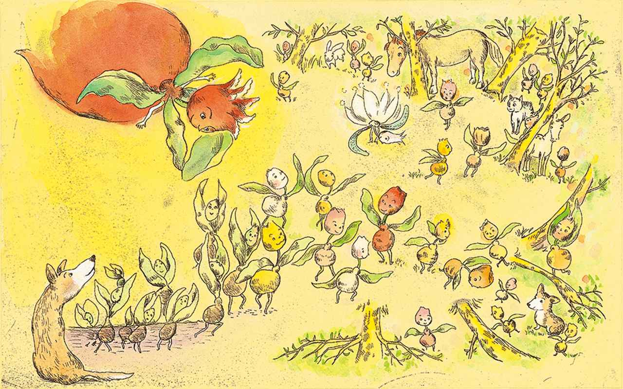 Images : 1番目の画像 - 「山本容子 初めての オリジナル・ストーリー絵本 『チューリップ畑をつまさきで』」のアルバム - T JAPAN:The New York Times Style Magazine 公式サイト