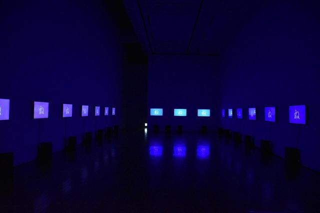 画像: 小山田圭吾(コーネリアス)、中村勇吾(tha ltd.)とのコラボレーション作品の展示風景 COURTESY OF TOKYO OPERA CITY ART GALLERY