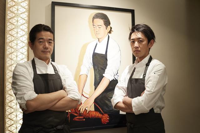 画像: (写真左から)「Restaurant TOYO Paris」中山豊光オーナーシェフ。東京店を担う大森雄哉シェフは、2010年よりパリ店で中山シェフに師事してきた