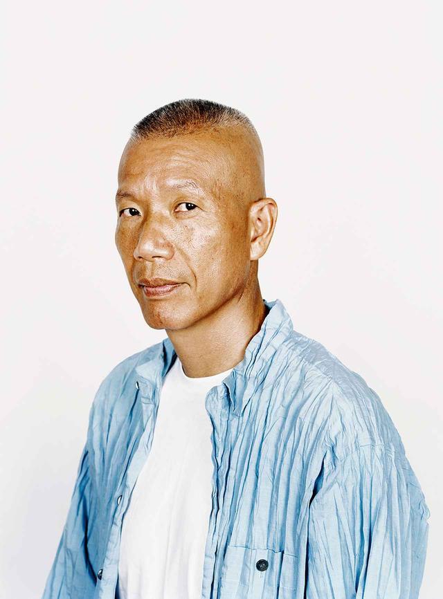 画像: 自宅で撮影した蔡國強のポートレート