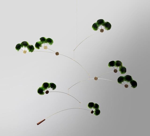 画像: 都知事賞を受賞した『ゆらぎ盆栽』(江戸木目込人形/造花)。雛人形を彩る造花技術をアレンジした、盆栽モチーフのモビール