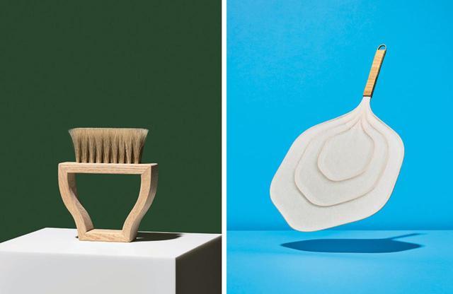 画像: (左から)2016年度の開発商品『PLANTS BRUSH』(東京手植ブラシ)。植物に見立てた、インテリアになるブラシ。2016年度の開発商品『籐と和紙のうちわ』(東京籐工芸)。軽量な籐を使った、豊かな風量のうちわ PHOTOGRAPHS: COURTESY OF TOKYO TESHIGOTO 2018