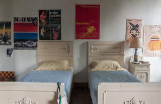 のちにオリバーの寝室になる、主人公エリオの寝室