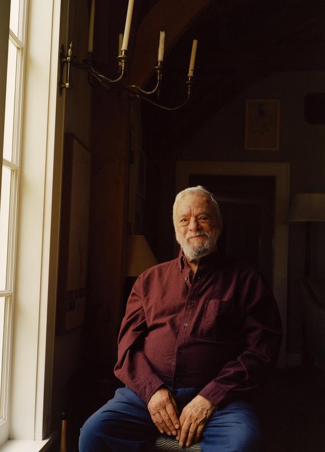 画像: スティーブン・ソンドハイム。コネッチカットの自宅で