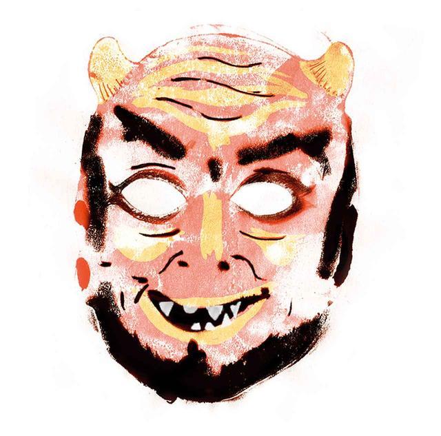 画像: 悪魔のマスク。「コレクションに所蔵されている多くのオブジェが、デイヴィッドが作品を作るうえでのインスピレーションになった」とテイラーは語る