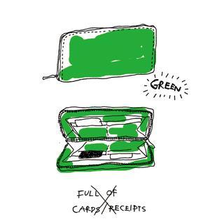 貯めたい人には緑の財布