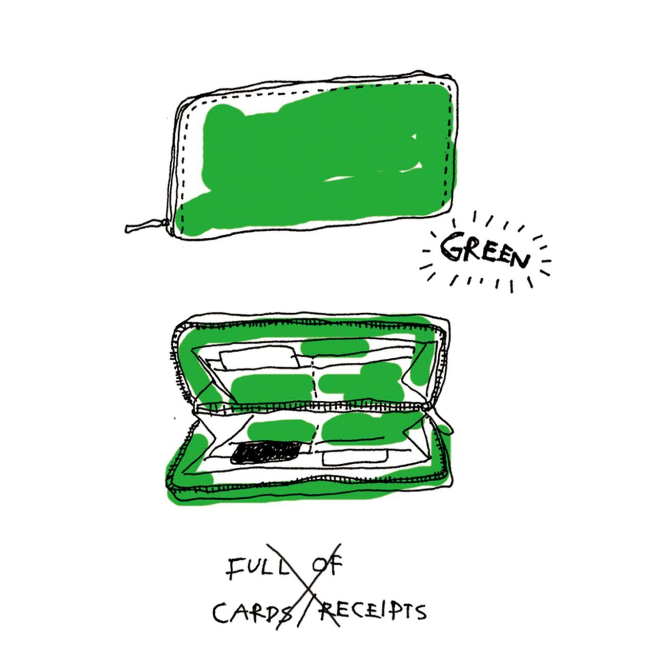 Images : 貯めたい人には緑の財布
