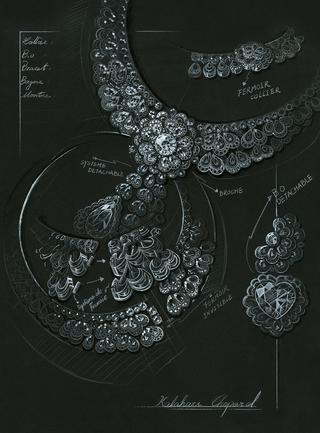 「ガーデン・オブ・カラハリ」のデザイン画