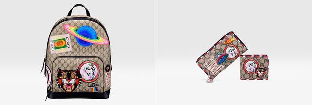 画像: グッチ銀座限定アイテム (写真左)「クーリエ」バックパック ¥226,000 (写真右)「クーリエ」ロングウォレット(左)¥83,000 「クーリエ」コインウォレット(右)¥62,000