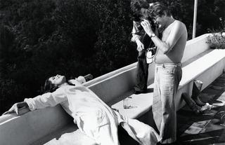 シャーロット・ランプリングを撮るヘルムート・ニュートン、カンヌ、1976年
