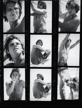 俳優ハイラム・ケラー ミコノス島にて、1970年代