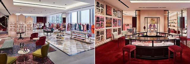 画像: (写真左)2階 ウィメンズ ウェア、シューズ (写真右)3階 ウィメンズ ジュエリー