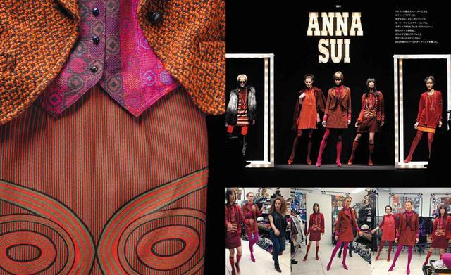 画像: 『The World of Anna Sui』日本版から、2013年秋冬コレクションでの風景 (写真左)PHOTOGRAPH BY LESLEY UNRUH (写真右上)PHOTOGRAPH BY THOMAS LAU (写真右下)COURTESY OF ANNA SUI ARCHIVE