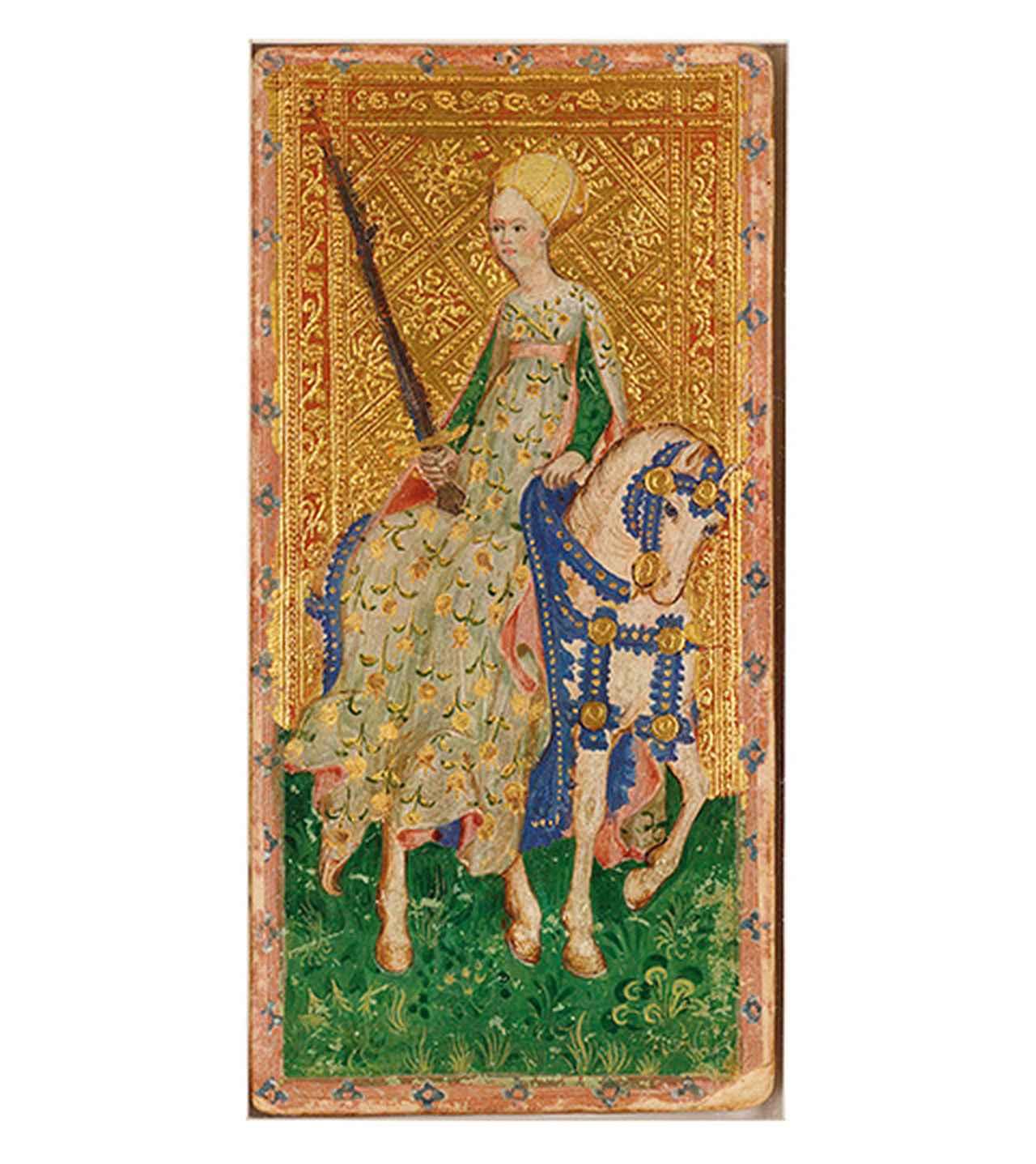 Images : ヴィスコンティ家のタロットカード(1451年頃)