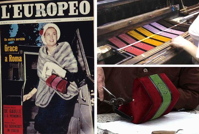画像: (写真左)ローマ訪問時のグレース・ケリーの姿は、当時のファッション誌の誌面を飾った (写真右)1948年から変わることなく、イタリアのファクトリーでひとつひとつ仕上げられるまさに逸品 COURTESY OF ROBERTA DI CAMERINO