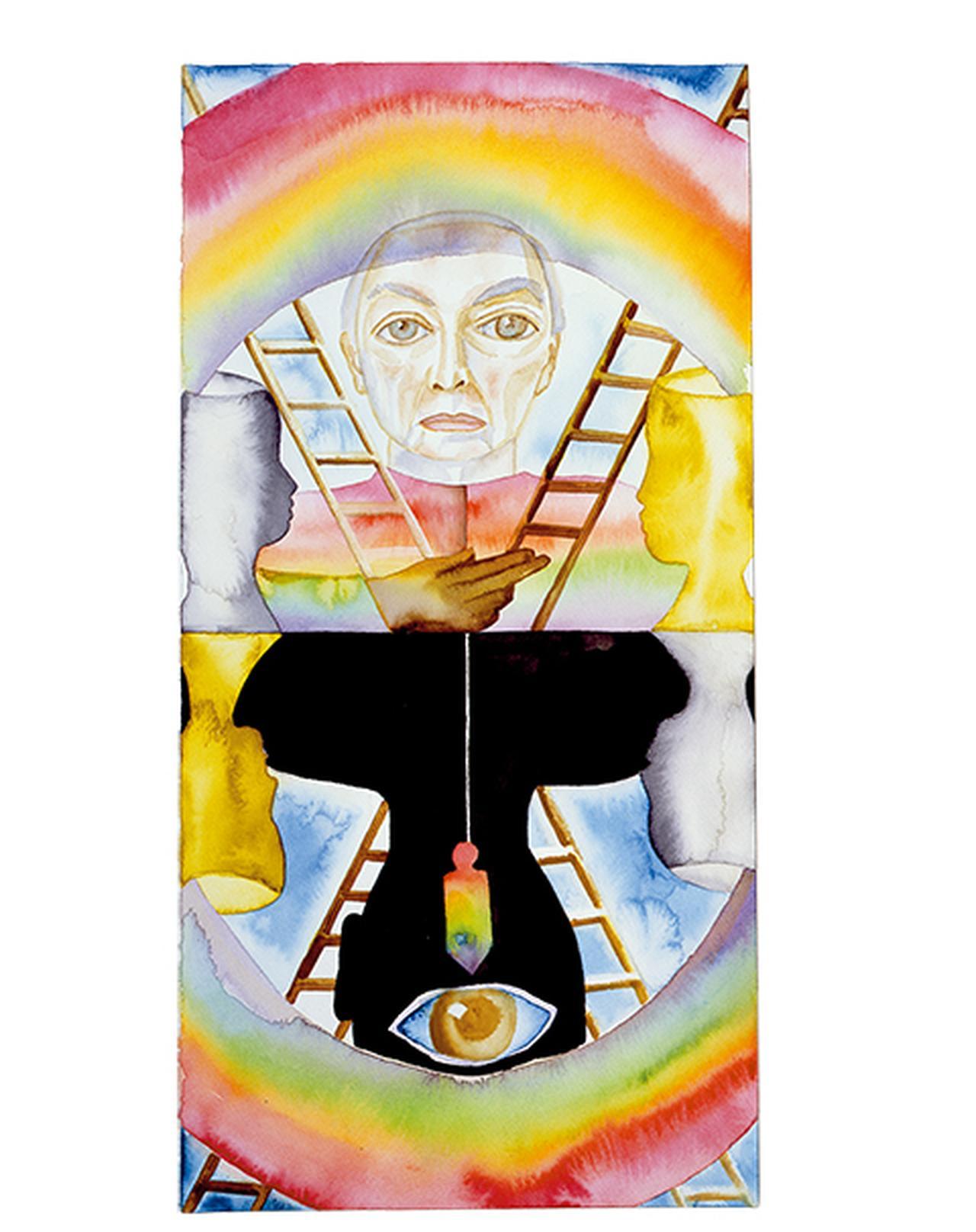 Images : フランチェスコ・ クレメンテ『タロットカード_ジャスパー・ジョーンズが教皇だったら』(2011年)