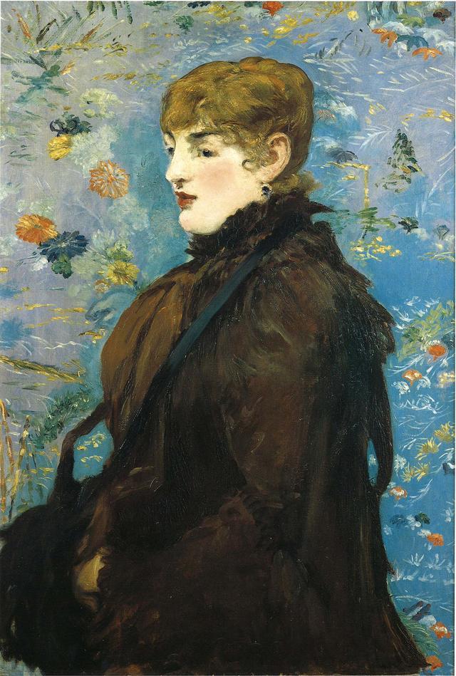 画像: 「秋 メリー・ローランの肖像」 MANET 1881 ナンシー美術館 きものは室内用の飾り布としても用いられた。この絵では、飾り布に使われたきものの文様が、絵画を構成する装飾的な背景へと変容。日本の美意識が、マネの創造に大きく影響したと言われる COURTESY OF MUSÉE DES BEAUX-ARTS DE NANCY