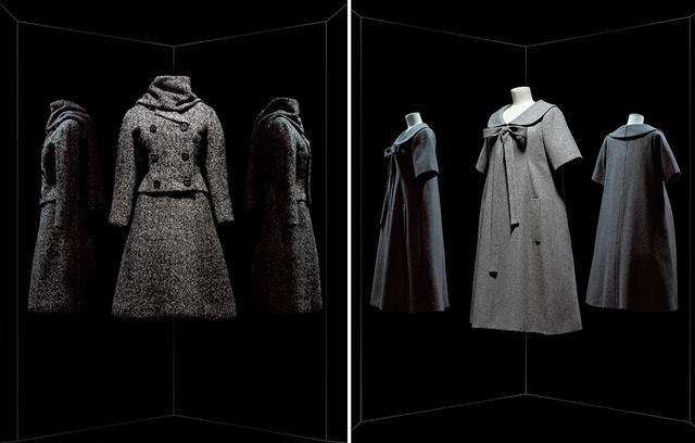 画像: (左から)1958年春夏 イヴ・サンローランによる「Bonne Conduite」ドレス、1961年秋冬 マルク・ボアンによる「Gamin」スーツ COURTESY OF LES ARTS DÉCORATIFS / NICHOLAS ALAN COPE