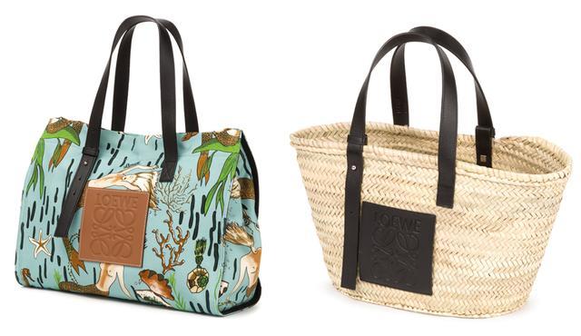 画像: (左から)キャンバスバッグ¥90,000、カゴバッグ¥53,000