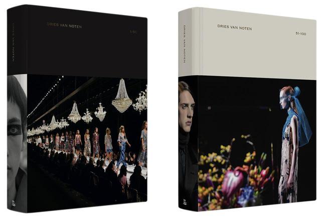 画像: (写真左) 1から50回めまでのコレクションをまとめた『 Dries Van Noten 1-50 』€ 69 / $ 90 / £ 65 (日本価格未定) COVER PICTURE BY PATRICE STABLE (写真右) 51から100回めまでの『 Dries Van Noten 51-100 』€ 69 / $ 90 / £ 65 (日本価格未定) COVER PICTURE BY MARCIO BASTOS