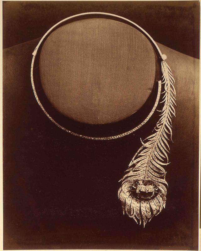 画像: 1883年制作「プリュム ドゥ パオン」ネックレス