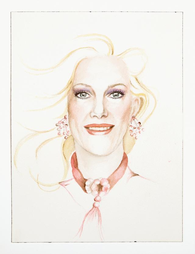 """画像: パフォーマンス・アーティストのジャスティン・ヴィヴィアン・ボンドによる自画像 《MY BARBIE COLORING BOOK》 (2014年、アクリルペーパーに水彩) FROM THE SHOW """"TRIGGER: GENDER AS A TOOL AND A WEAPON""""/THE NEW MUSEUM, COURTESY OF THE ARTIST"""