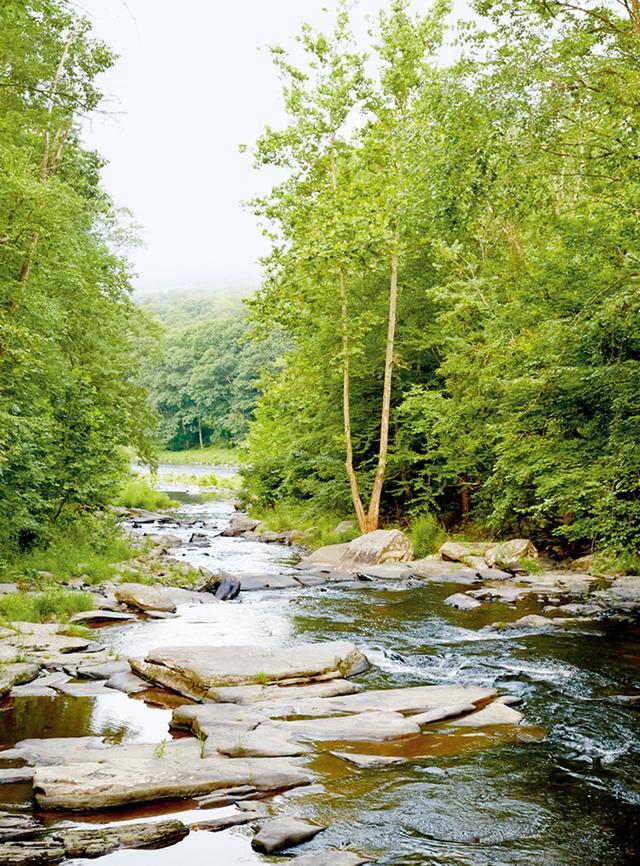 画像: サリバン郡に点在する小さな町の間を縫うよう流れる、デラウェア川の支流