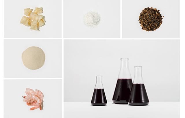 画像: 従来のワインを「こうあるべき」とされる味や見た目に合わせるために、ワイナリーではこんなさまざまな原料を加えることがある。(左上から時計回りに)清澄剤として使う魚の浮袋の抽出物。安定化に使うソルビン酸カリウム。アルコール強化に使う砂糖。色を濃くしたり甘くしたりするのに使うメガ・パープル。エビの殻からとった液体は清澄剤に。清澄に使うベントナイト粉 PHOTOGRAPHS BY JOSHUA SCOTT