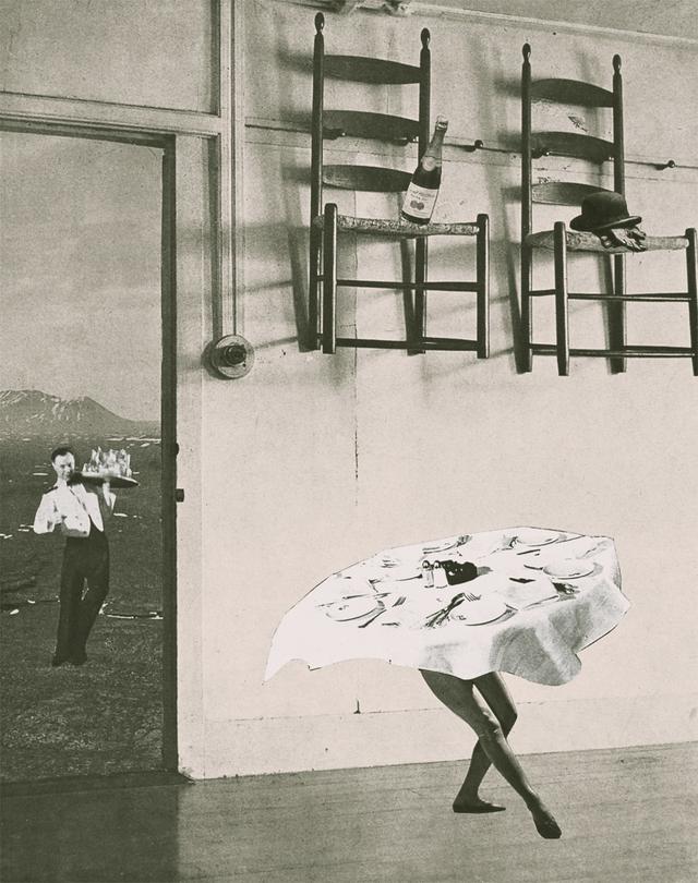 画像: 《陽気なリズム》The Dance of the Table, 1952年 高知県立美術館所蔵 © OKANOUE TOSHIKO