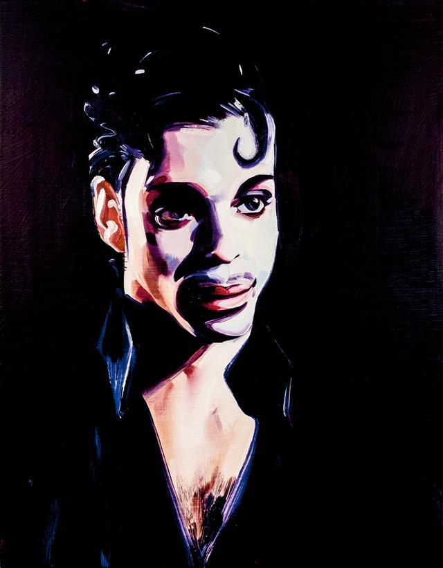 画像: サム・マッキニスによるプリンスの肖像画《PRINCE(UNDER THE CHERRY MOON)》 (2016年、キャンバスに油彩とアクリル) COURTESY OF THE ARTIST AND TEAM GALLERY, NEW YORK